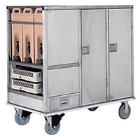 Lakeside PB64ENC PrisonBilt Stainless Steel 64 Tray Enclosed Meal and Beverage Delivery Cart
