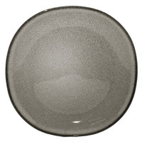 Homer Laughlin 221841435 Brownfield 8 3/8 inch Square Small Charcoal Nadia China Plate - 24/Case