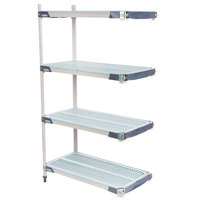 Metro AX346GX3 MetroMax i 4-Shelf Polymer Add-On Shelving Kit - 18 inch x 42 inch x 63 inch