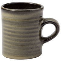 Homer Laughlin 180041435 Brownfield 13 oz. Charcoal Amano Mug - 36/Case