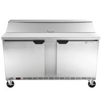 Beverage-Air SPE60HC-16 Elite Series 60 inch 2 Door Refrigerated Sandwich Prep Table