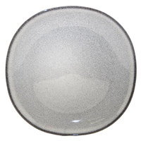 Homer Laughlin 221841438 Brownfield 8 3/8 inch Square Small Pewter Nadia China Plate - 24/Case