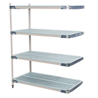 Metro AX546GX3 MetroMax i 4-Shelf Polymer Add-On Shelving Kit - 24 inch x 42 inch x 63 inch