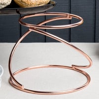 Choice 7 inch Rose Gold Swirl Metal Display Stand
