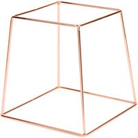 Choice 9 inch Square Rose Gold Metal Display Stand