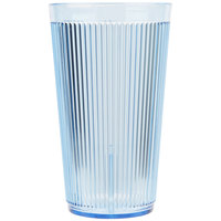 Carlisle 401654 16 oz. Blue Crystalon Stack-All SAN Plastic Tumbler - 12/Case
