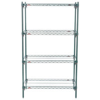 Metro A336K3 Super Adjustable Super Erecta 4-Shelf Metroseal 3 Wire Stationary Starter Shelving Unit - 18 inch x 36 inch x 63 inch