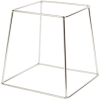 Choice 9 inch Square Stainless Steel Metal Display Stand