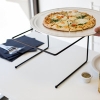 Choice 12 inch x 12 inch x 7 inch Black Metal Pizza Stand