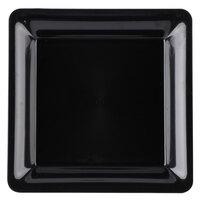 Fineline SQ4010.BK Innovative Caterware 10 3/4 inch x 10 3/4 inch Black Plastic Square Cater Tray - 25/Case