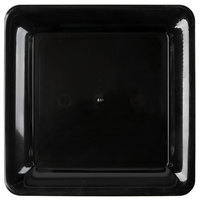 Fineline SQ4010.BK Innovative Caterware 10 3/4 inch x 10 3/4 inch Black Plastic Square Cater Tray - 25/Case
