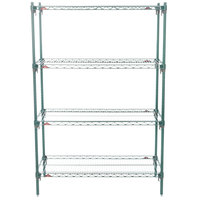 Metro A346K3 Super Adjustable Super Erecta 4-Shelf Metroseal 3 Wire Stationary Starter Shelving Unit - 18 inch x 42 inch x 63 inch