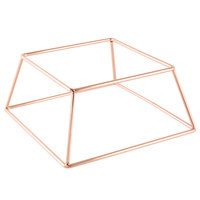 Choice 4 inch Square Rose Gold Metal Display Stand