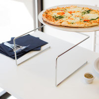 Choice 12 inch x 12 inch x 7 inch Chrome Metal Pizza Stand