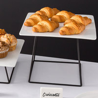 Choice 9 inch Square Black Metal Display Stand