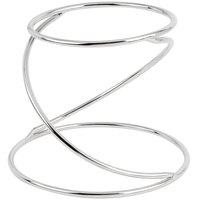 Choice 7 inch Stainless Steel Swirl Metal Display Stand