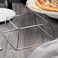 Choice 4 inch Square Stainless Steel Metal Display Stand