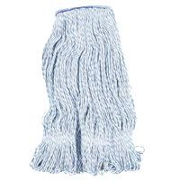 Continental A11412 24 oz. Blue and White Blend Loop End Mop Head with 1 1/4 inch Band