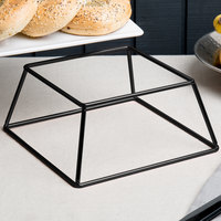 Choice 4 inch Square Black Metal Display Stand