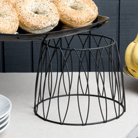 Choice 7 inch Round Black Patterned Metal Display Stand