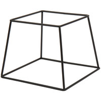 Choice 7 inch Square Black Metal Display Stand