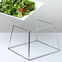 Choice 7 inch Square Stainless Steel Metal Display Stand