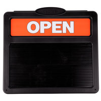 Headline Sign 3727 14 3/8 inch x 12 3/8 inch Double-Sided Open / Closed Sign with Plastic Push Characters