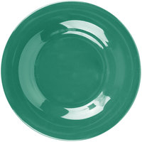 Carlisle 3302009 Sierrus 5 1/2 inch Meadow Green Wide Rim Melamine Bread and Butter Plate - 48/Case
