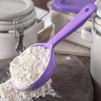 Carlisle 493089 Measure Misers 6 oz. Purple Allergen Free Short Handle Portion Spoon