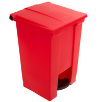 Rubbermaid FG614400RED 12 Gallon Red Rectangular Step-On Trash Can