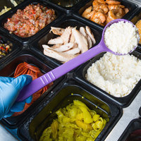 Carlisle 398089 Measure Misers 4 oz. Purple Allergen Free Long Handle Portion Spoon