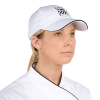 Chef Revival H063WH White 100% Cotton Baseball / Chef Cap with Black Logo