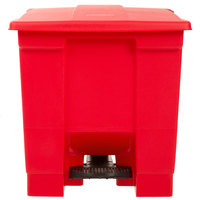 Rubbermaid FG614300RED 8 Gallon Red Rectangular Step-On Trash Can