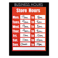 Nudell 37085BH 8 1/2 inch x 11 inch Clear Plastic All-Purpose Sign Holder with Business Hours Header