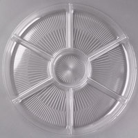 Fineline D16777.CL Innovative Caterware 16 inch Round Clear Plastic 7-Compartment Tray - 12/Case