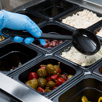 Carlisle 4390-503 Measure Misers 6 oz. Black Long Handle Portion Spoon