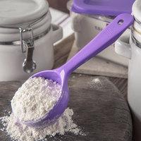 Carlisle 492889 Measure Misers 4 oz. Purple Allergen Free Short Handle Portion Spoon