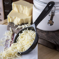 Carlisle 493003 Measure Misers 6 oz. Black Acetal Short Handle Portion Spoon