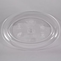 Fineline 483.CL Innovative Caterware 16 inch x 11 inch Clear Plastic Oval Cater Tray - 25/Case