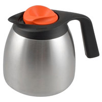 Bunn 51746.0103 Zojirushi 64 oz. Stainless Steel Economy Thermal Carafe - Orange Top