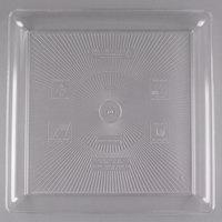 Fineline SQ4818.CL Innovative Caterware 18 inch x 18 inch Clear Plastic Square Cater Tray - 20/Case