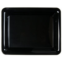 Fineline RC471.BK Innovative Caterware 10 inch x 8 inch Black Plastic Rectangular Cater Tray - 25/Case