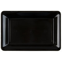 Fineline RC472.BK Innovative Caterware 14 inch x 10 inch Black Plastic Rectangular Cater Tray