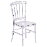 Flash Furniture Y-1-GG Elegance Chiavari Napoleon Transparent Polycarbonate Outdoor / Indoor Stackable Chair