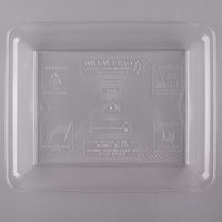 Fineline RC471.CL Innovative Caterware 10 inch x 8 inch Clear Plastic Rectangular Cater Tray - 25/Case