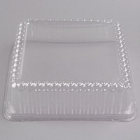 Fineline DDSQ1010.L Innovative Caterware 10 3/4 inch x 10 3/4 inch Clear Plastic Square Dome Lid - 50/Case