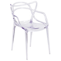 Flash Furniture FH-173-APC-GG Nesting Transparent Polycarbonate Outdoor / Indoor Stackable Side Chair