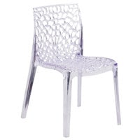 Flash Furniture FH-161-APC-GG Vision Transparent Polycarbonate Outdoor / Indoor Stackable Side Chair