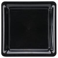 Fineline SQ4212.BK Innovative Caterware 12 inch x 12 inch Black Plastic Square Cater Tray