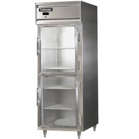 Continental DL1RES-SS-GD-HD 29 inch Half Glass Door Extra Wide Shallow Depth Reach-In Refrigerator